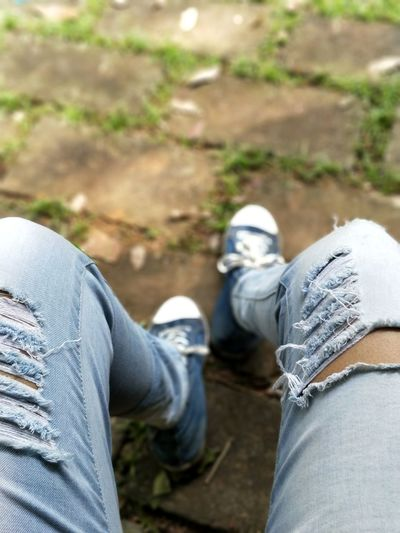 Ripped jeans & tired feet 👟 Ripped Jeans Denim DenimOnDenim Jeans Human Leg Human Body Part Low Section Casual Clothing Shoe Adult People Women Adults Only Day Real People Close-up Outdoors Lifestyles EyeEm Ready   Fashion Stories An Eye For Travel Love Yourself Press For Progress Stories From The City Inner Power Visual Creativity