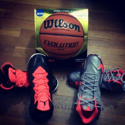 Got some sick kicks. Thank you uncle fred :) <3 Basketball Lebrons Airjordans ImInLove