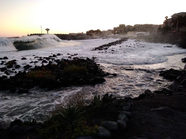 Stormy sea in San Giovanni Li Cuti, Catania Beach Sea Water Sunset Landscape Nature Outdoors No People Sky Beauty In Nature Scenics Day Stormy Sea Stormy Weather Stormy Beach View San Giovanni Li Cuti in Catania Sicily The Week On EyeEm EyeEmBestPics Exceptional Photographs Beauty In Nature