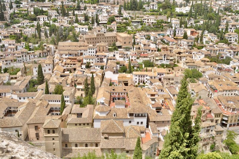 Architectural Detail Architecture Built Structure Cityscape Colours And Patterns Crowded Granada High Angel View Historical Outdoors Residential Building Residential District Roof Roof Tiles Roofs From Above Rooftop SPAIN Urban Urban Perspective Urban Photography