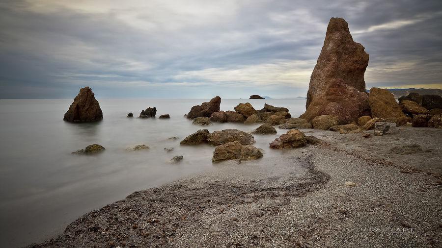 Nikon Beach Coastline Horizon Over Water Long Exposure Mazarron Napatu Ocean Rock Sea Seascape Soledad Tierra, Mar Y Cielo Tranquil Scene Vacations Water