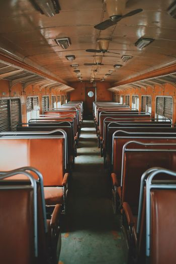 Empty Seats In Train Car