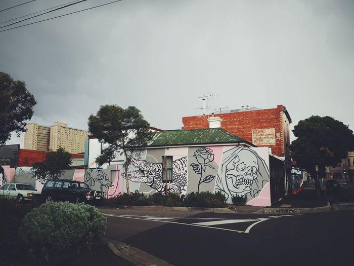 Architecture Built Structure City Collingwood Creativity Gloomy Graffiti Mural No People Skull Sky Street Streetart Streetphotography