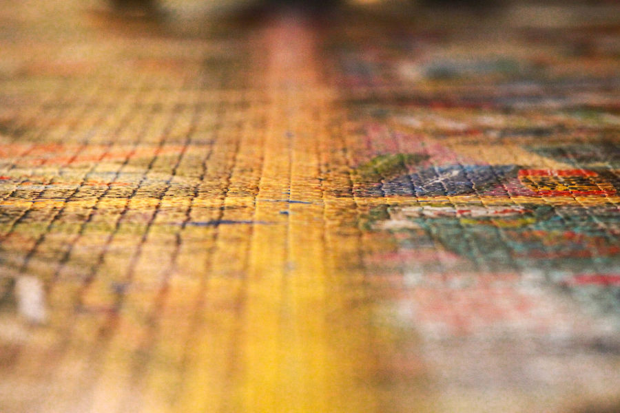 Ravensburgerspiele Art And Craft Backgrounds Close-up Direction Extreme Close-up Full Frame Multi Colored Paint Pattern Puzzle  Ravensburgspielt Selective Focus Textured