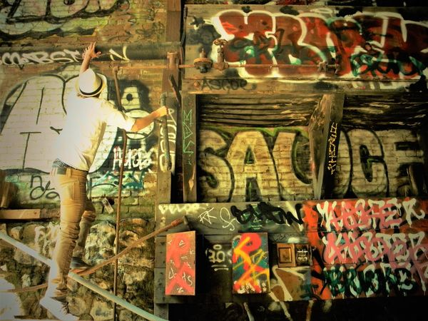 Create your dreams⭐ Adventure Close-up Color Evening Graffiti One Person Sauce Variation Design High Lifestyles Art Perspective Structure Findings Warm Colors View Capture The Moment Young Adult First Eyeem Photo Bless