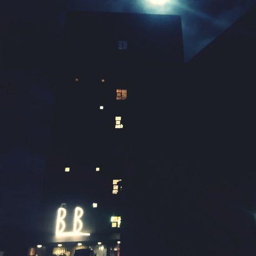 moon shines down on Billig B&B at HighTower Bed&breakfast Herning Hightower Myhome Billig B&B Moonshine Illuminated Night No People Communication Technology Building Exterior City
