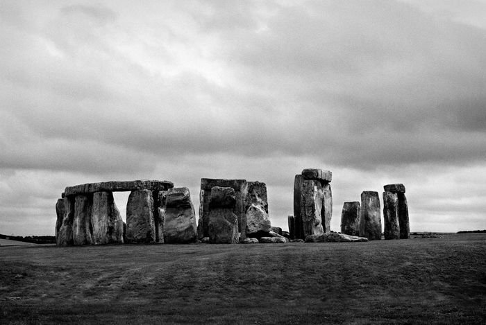 Cloudy Famous Place Landscape Monument No People Standing Stones Stone Circle Stonehenge Wiltshire