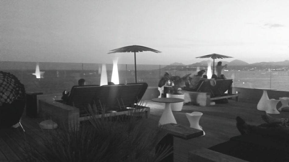 In the restaurant at Cannes Cannes Restaurant Architecture At Night Black & White Blackandwhite Black And White Enjoying Life Enjoying The View France