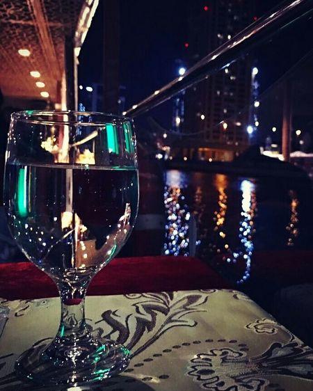 Night Reflection Nightlife Water Object Photography Glass Dubai Dinner Cruise Water Canal Dubai Beautiful Night View