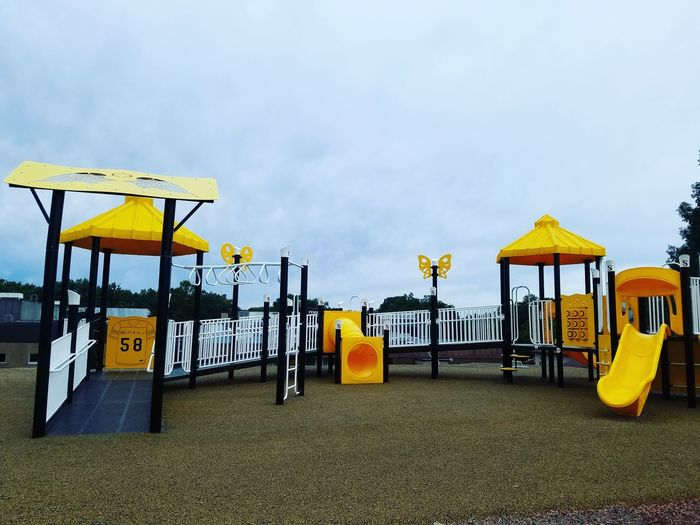 Beach Sand Yellow Sky Slide - Play Equipment Outdoor Play Equipment Playground