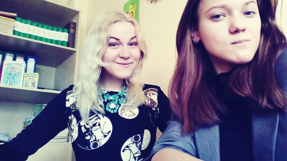 Blond Brunette Laura Latvia Smile Classmates Uuuuuuuu Bff❤