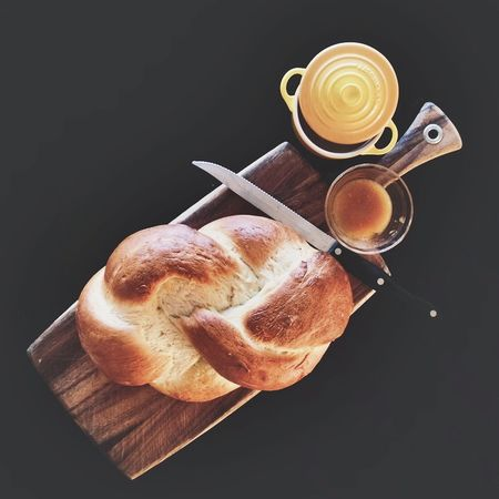 Baking Bread Brown Cappuccino Close-up Coffee Coffee - Drink Coffee Cup Culture Cup Fresh Freshness Freshness Homemade Indulgence No People Refreshment Saucer Still Life