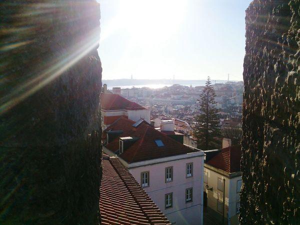 Castelo De São Jorge Lisboa Light Effects City View