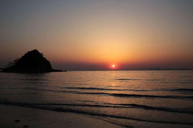Sunset EyeEm Best Shots Sea Silhouette この夕陽を見たかった。