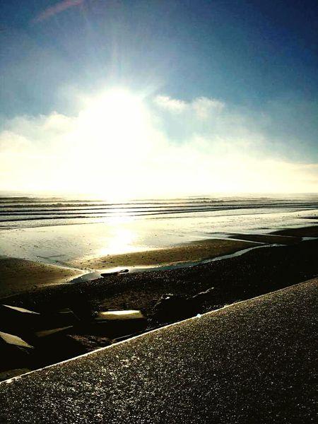 Morning sun at North beach