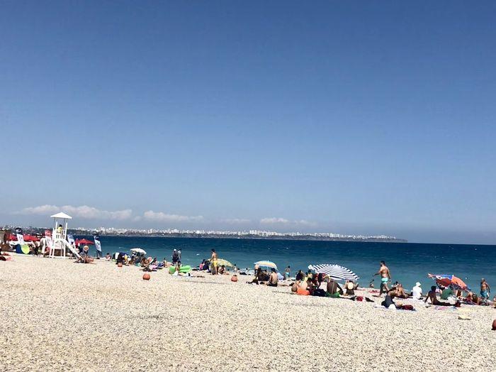 Sea Beach Crowd