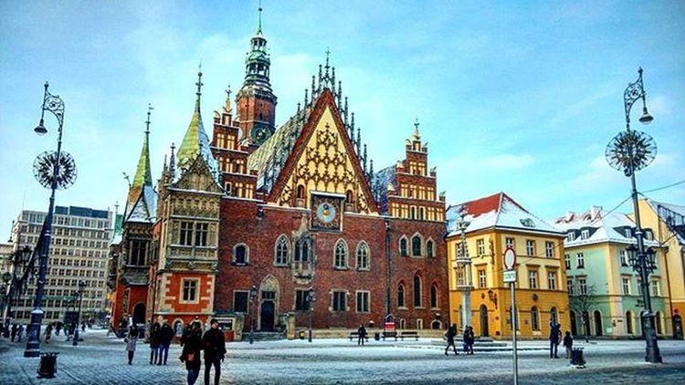 Zentrum Gothic Poland Wroclaw Beauty Europe Europe_tourist Europetourist Tour Traveleurope Oldtown Nofilter Polska