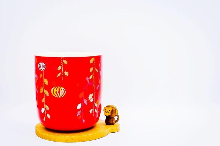 Coffee Mug Starbucks Mug Coffee Coffee Cup Monkey China Chinese EyeEmNewHere EyeEm Best Shots EyeEm Selects EyeEm Gallery Eye4photography  EyeEm White Background Red Close-up Chinese New Year