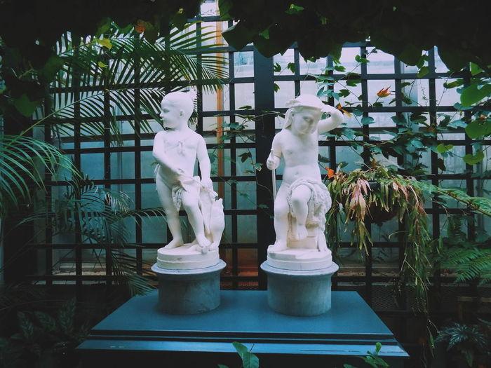 Sculptures in park