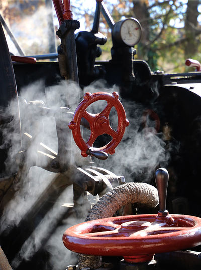 Metal Machinery Close-up Valve Steam Enginge Engine Parts Smoke - Physical Structure Pipe - Tube Steam Steam Enbgine