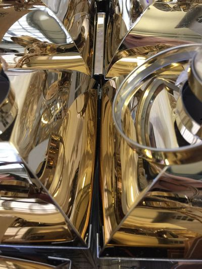 Reflect Lantern Gold Symetryart Symetry Texture No People Indoors  Reflection Close-up Metal Backgrounds Full Frame Transportation Motor Vehicle Glass - Material Shiny Car Household Equipment Mode Of Transportation Chrome Land Vehicle Gold Colored Day Pattern Silver Colored