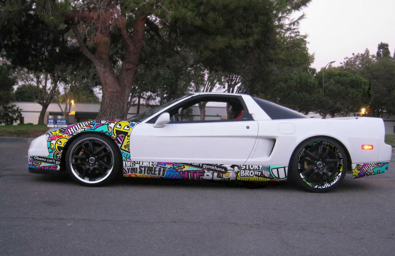 Honda Nsx Photoshop Sticker Bomb
