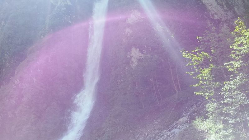 Waterfall Rainbow Südtirol Spettacular View Great Shot Wonderful In A Cave Water Reflections Rainbow Falls Österreich Austria Mountains Natural Beauty