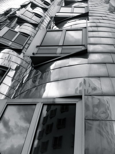 Blackandwhite Architecture Reflection Art Windows Street Photography in Düsseldorf , Germany Amazing Architecture Shades Of Grey Monochrome Photography Black And White Friday #urbanana: The Urban Playground