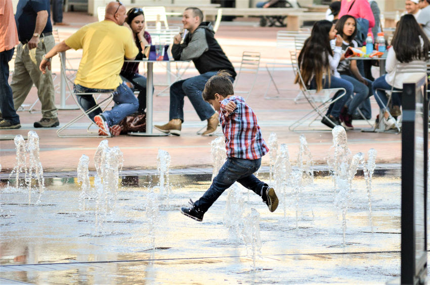 Children City City Life Downtown Fort Worth Fountain Sundance Square Texas