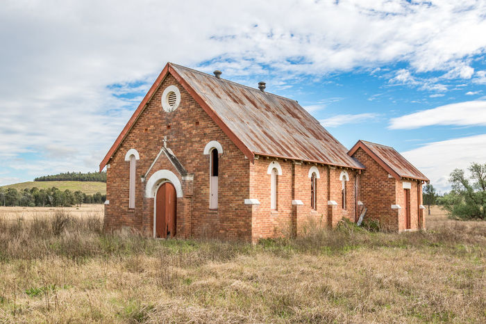 Abandoned brick church in rural setting Australia Australian Church Cloudy Country Hunter Valley NSW Australia Nature Rural Worship Abandoned Architecture Blue Building Building Exterior Built Structure Church Architecture Cloud - Sky Clouds Day No People Outdoors Sky Structure Tree