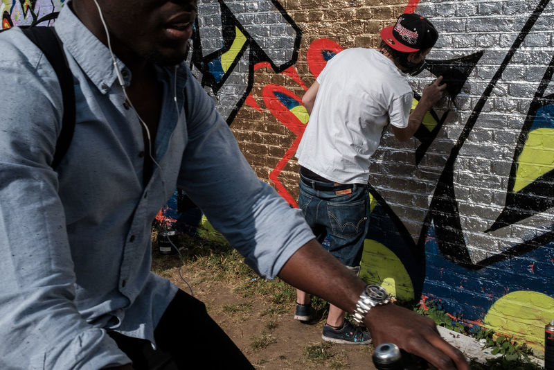 Aerosol Can Casual Clothing City Day Football Life Graffiti Hackney Hackney Wick Leisure Activity Lifestyles London Stadium Outdoors People Queen Elizabeth Olympic Park Real People West Ham Utd Young Adult Young Men