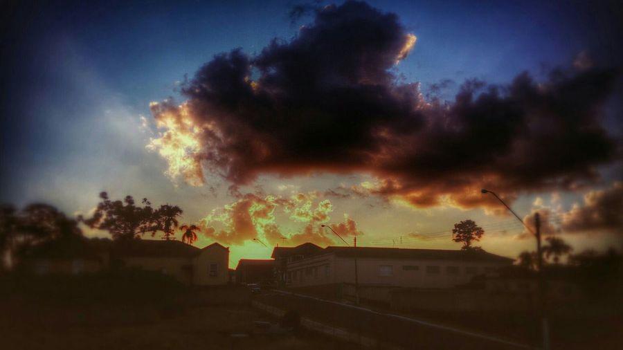 Sunset Sunshine Brilho Fim De Tarde Agudos-sp Clouds And Sky Sky_collection Clouds Beautiful Colors