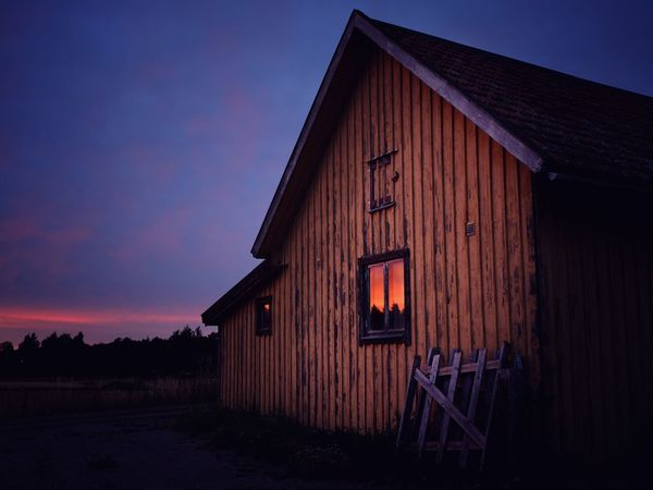 Sunset Reflected Built Structure Architecture Building Exterior House No People Sky Outdoors Barn Nature Day Nature Landscape Escape O Otherworldly Sun Omberg, Sweden The Week On EyeEm