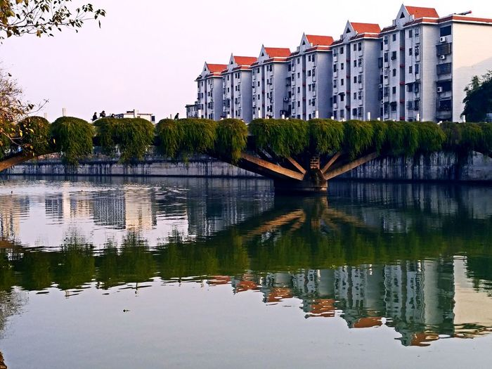 倒影 Reflection Water Building Exterior Architecture Lake Business Finance And Industry Outdoors