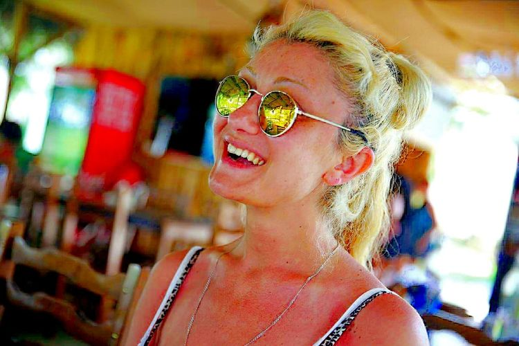 Hello World Just Smile  Just Me Smiling Face Girl Smile Till The World Ends  Happiness Happy Time Faces Of EyeEm Sunglasses Holidays Enjoying Life Life Is Beautiful Summertime Tan Fresh Natural