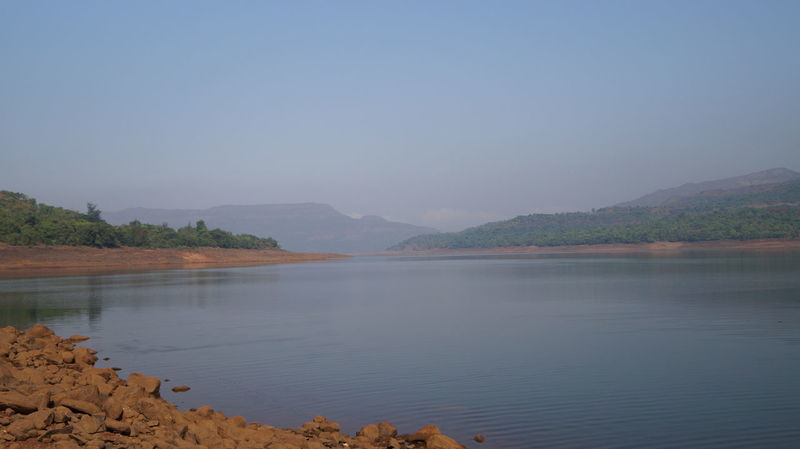 Beauty In Nature Clear Sky Day India Lake Landscape Mountain Mountain Range Mulshi Nature No People Outdoors Pune Scenics Sky SonyAlpha58 Tranquil Scene Tranquility Water