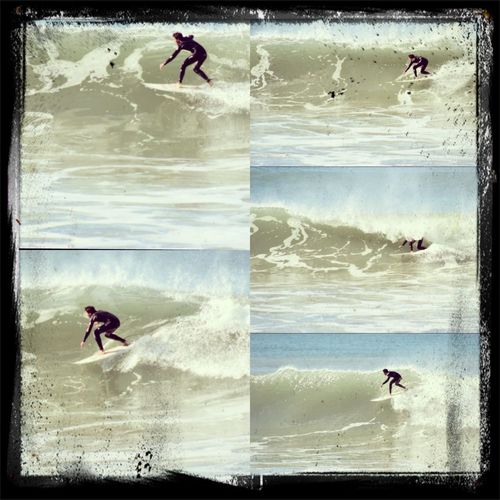Nate surfing