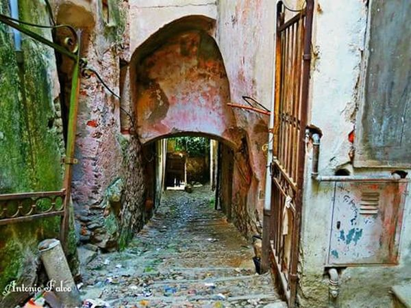 Abandoned Old Run-down Damaged Arch Weathered Deterioration Obsolete Door Architecture Messy Worn Out Bad Condition The Way Forward Ruined Narrow Day Entrance Dirty Interior Architecture Orange Color High Section Tranquil Scene Glowing