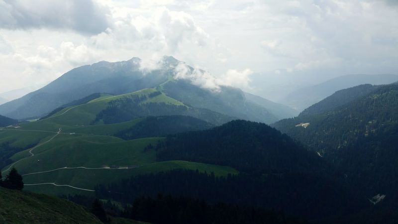 Trentino  Cloud - Sky Passo Brocon Outdoors Beauty In Nature Landscape Mountain Nature Green Color Day No People Road Sky