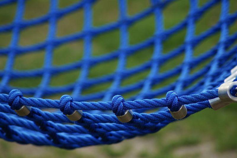 Close-up of hammock outdoors