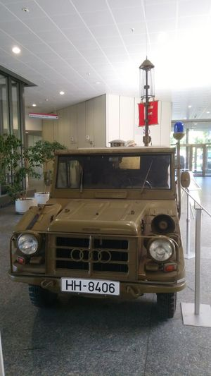 Feuerwehrfahrzeug der frühen Bundeswehr. Audi Auto Union Bundeswehr Fire Engine