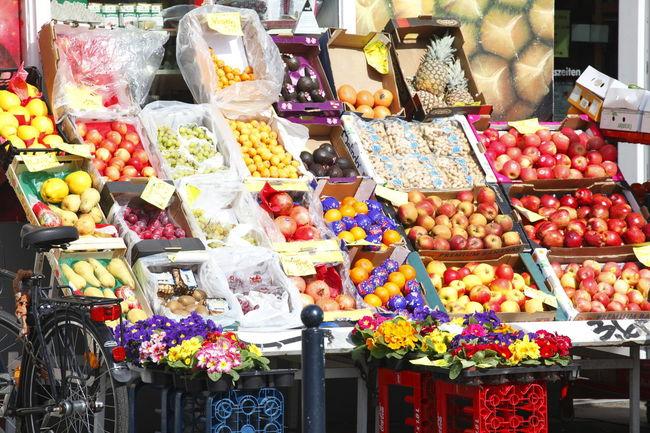 Greengrocer's, food store in Steintorviertel Quarter, Bremen, Germany Bremen Food Fruit German Greengrocer Greengrocery Vegetable Viertel
