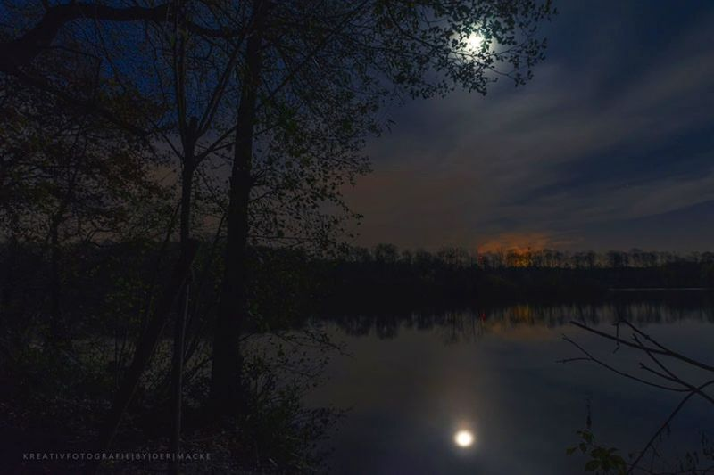 """""""And the moon was the only light"""". Taken on the tour around the """"Ewaldsee"""" with Sony alpha99. Landscape Landscape_Collection Landscape_photography Landschaft Night Nightphotography Moon Moonlight Sky Lake Lake View Dermacke Mackes_fotografie Nature Nature_collection EyeEm Nature Lover Nature Photography Sonyalpha A99 Ewaldsee EyeEm Best Edits EyeEm Best Shots EyeEm Best Shots - Nature Sonya99 Dark"""