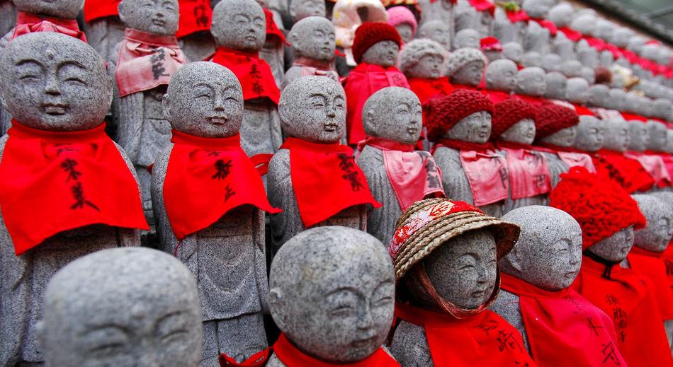 Full frame shot of red lanterns