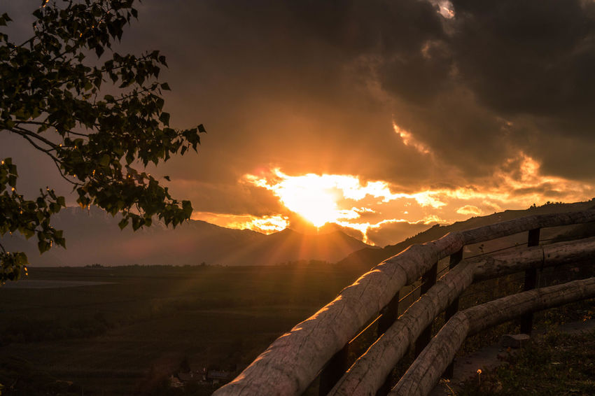 Landscape Sunset Sun Tree Hill Beauty In Nature Outdoors Dramatic Sky The Week On EyeEm