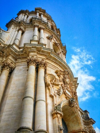 Modica World Heritage Sites Ragusa Sicily Italy Travel Photography Travel Voyage Traveling Mobile Photography Fine Art Architecture Baroque Churches Verticality Sky Clouds Mobile Editing