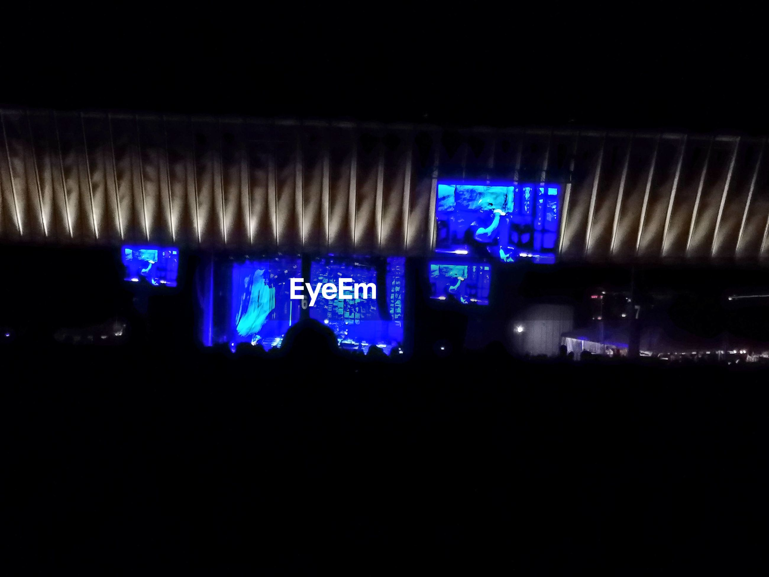 illuminated, night, lighting equipment, dark, city, multi colored, light, blue, glowing, city life, no people, modern, sky, defocused