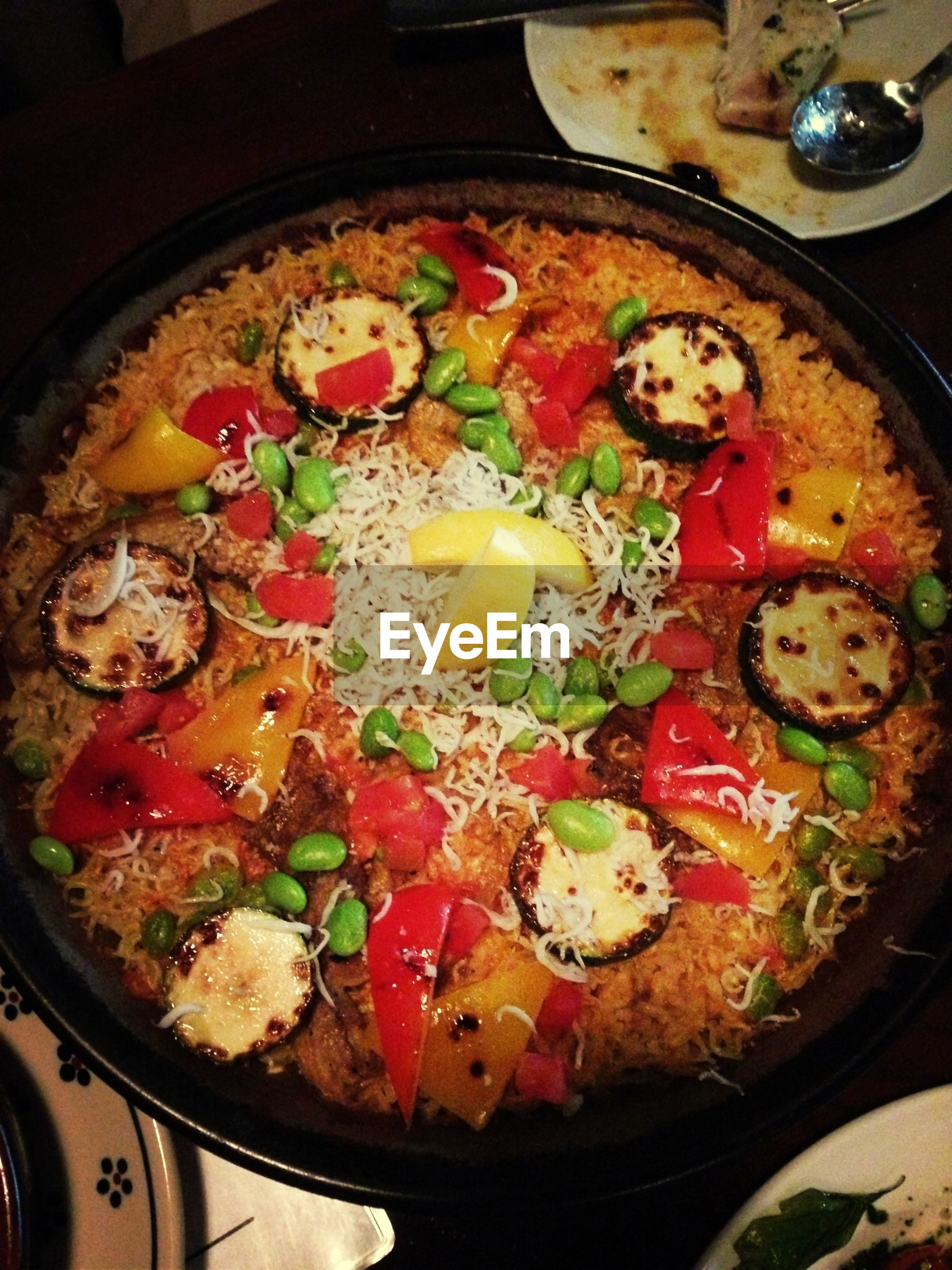 food, food and drink, freshness, indoors, ready-to-eat, healthy eating, meal, still life, high angle view, plate, meat, bowl, indulgence, vegetable, serving size, close-up, pizza, preparation, cooking, table