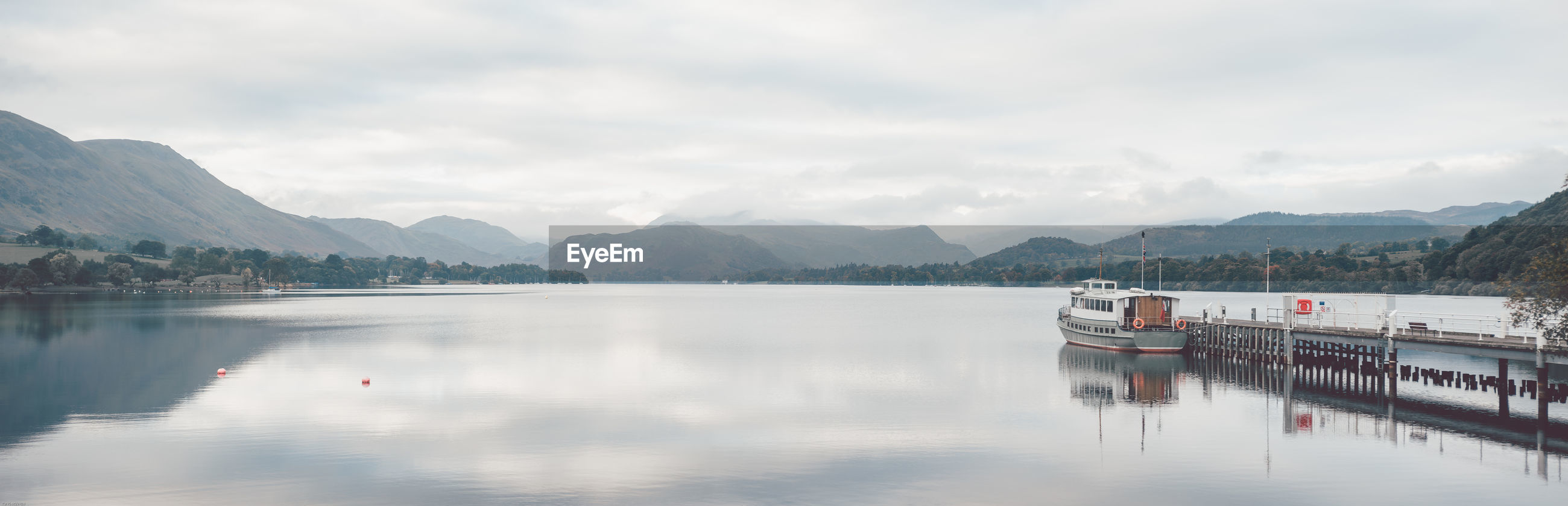 SCENIC VIEW OF LAKE WITH MOUNTAINS AGAINST SKY