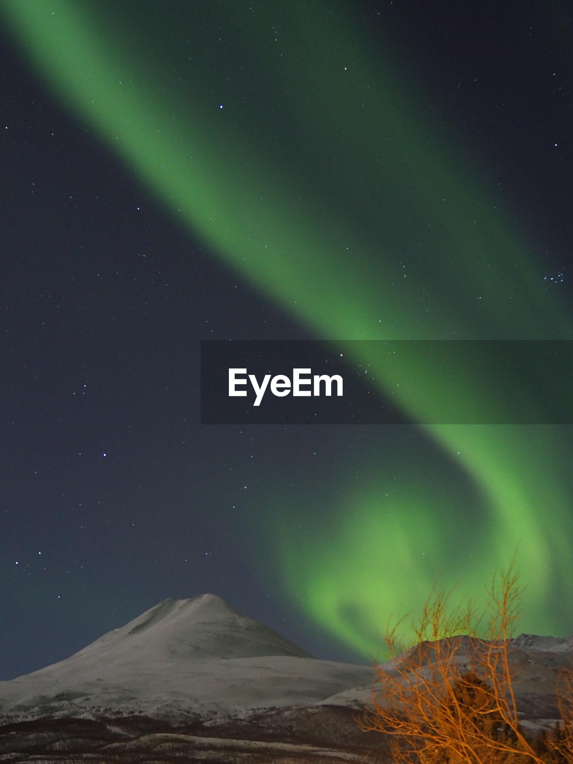 Aurora polaris at night